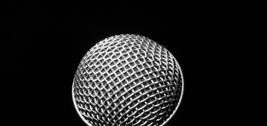 silver-microphone-on-a-black-background
